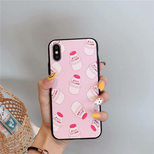 Funda de teléfono para el diseñador Funda de Iphone Modelos de moda Estampado bonito Diseño Cubierta para Iphone Xs X Xr Xs Max 8 7 6 Plus Shell Durablel PU Cover