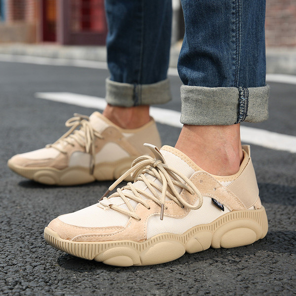 2019 HOTSALE TB4714# Men British Trend Warm Casual SHOES Boots Brown Cow Split with Flock Upper Muscle Outosle Male Walking Shoes