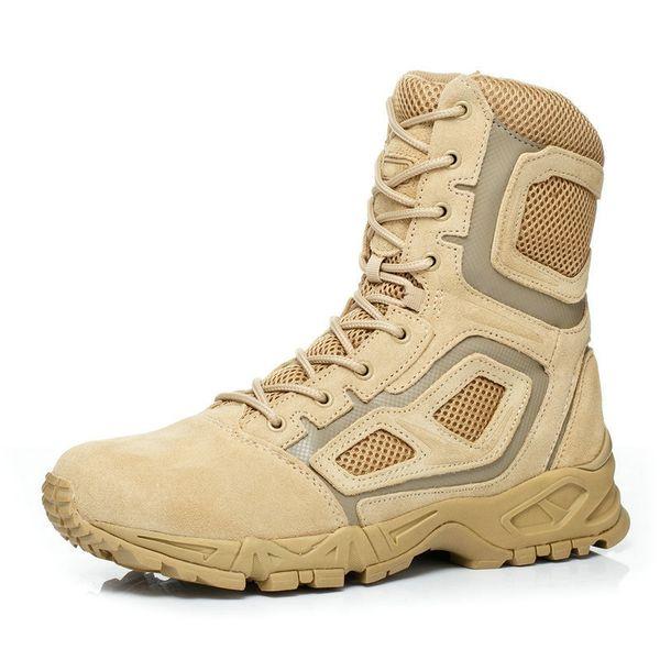 YENİ Açık Gerçek Deri dantel-up Hava savaş botları Yüksek Kafa katmanı sığır derisi taktik Kamp Desert Asker postalı Shoes # 4635 Yürüyüş