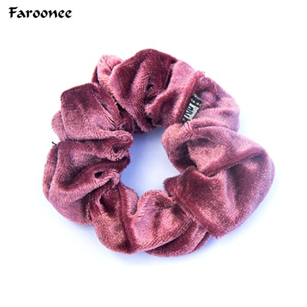 Womens New arrival Velvet Elastic Hair Ropes Scrunchies Girls' No Crease Hair Ties Women Accessories S5424