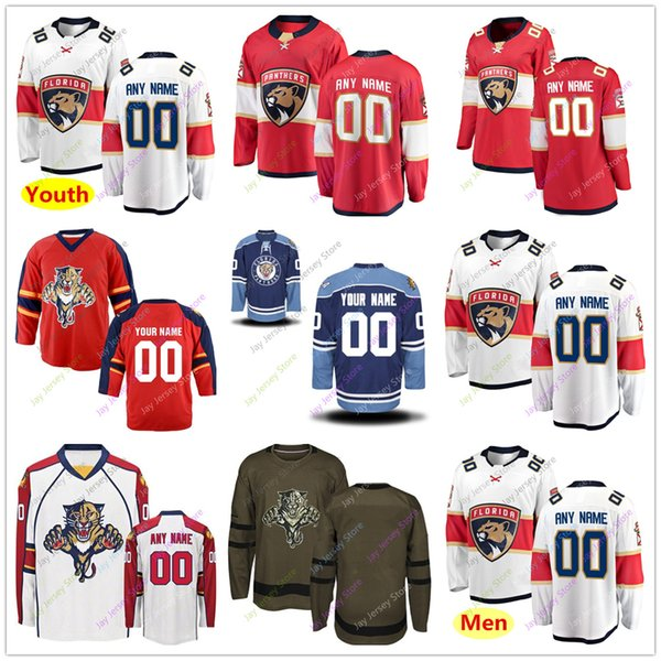 cheap for discount 08d1e ee61a 2019 Custom Jersey 2019 Men Women Youth Kid Winter Classic Florida Panthers  Salute To Service From Morejersey, $25.39 | DHgate.Com