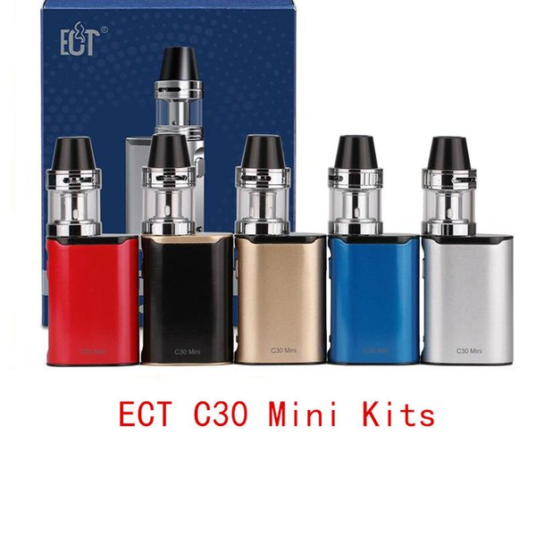 ECT C30 mini starter kit e cigarette box mod vape mod met атомайзер 2.0 мл испаритель 1200mah электронная сигарета