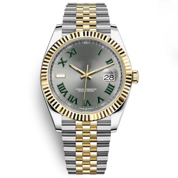 Herrenuhr 41mm Automatikuhr Roma Ziffer Keramik Lünette Saphirglasuhren Jubiläumsarmband Diamantuhr 2813 Uhrwerk Herrenuhren