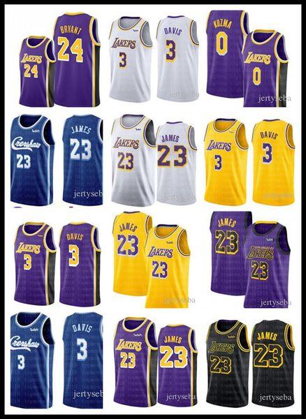 Lake LeBronCamisa nba 23 James Los Angeles Camisa Anthony 3 Davis Kyle 0 Kuzma 6 James Basketball Jerseys 2019 Crenshaw TOP vendas Lake