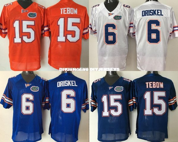 low priced 78804 b46ec 2019 Factory Outlet NCAA Men Florida Gators 6 Jeff Driskel 15 Tim Tebow  College Football Jersey 100% Stitched Name And Number ! From Diyjerseys, ...