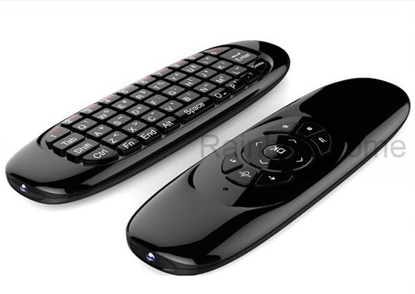Fly Air Mouse Mini Wireless QWERTY Keyboard Remote Control Game Controller For Android TV Set Top Box Mini PC 6 Gyroscope Q3 Wholesale