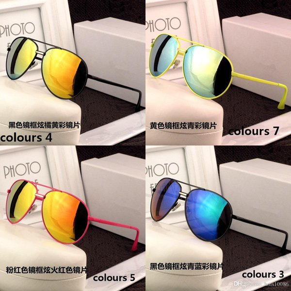 Hot fashion 1pcs Classic Pilot Sunglasses Cool jim Designer Mens Womens Sun Glasses Eyewear UV400 Steampunk Retro Vintage original with box