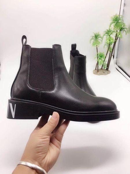 2019 Moda Donna Casual Espadrillas alte Rivetto Martin Stivali Scarpe di marca Stivali da moto Sneakers Scarpe a tacco basso in vera pelle