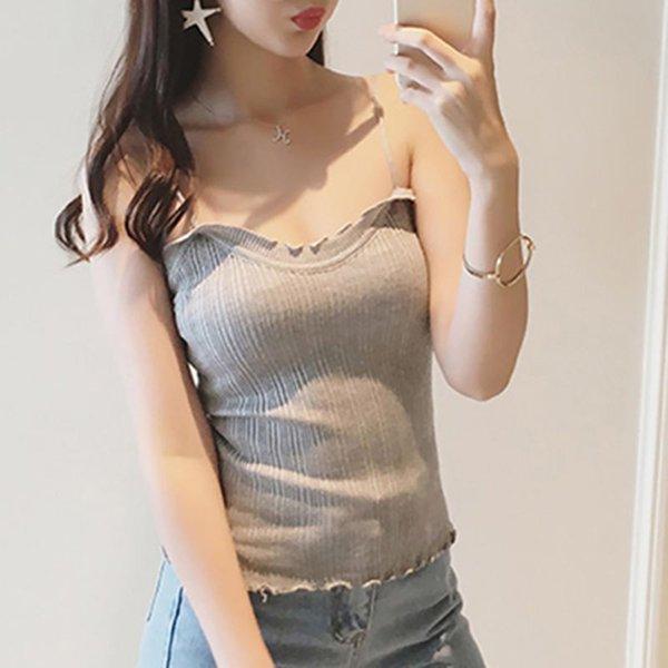 Mulheres Magro Colete Feminino V-Collar Tops Camisola Camisola Moda Feminina Top