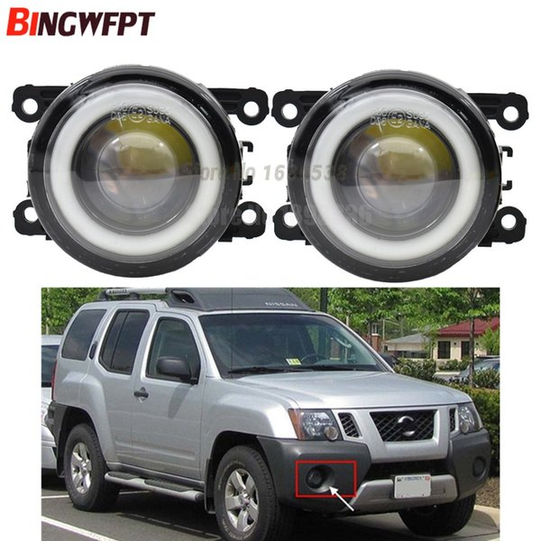 2pcs/pair (Left+Right) Angel Eye car-styling Fog Lamps LED Lights For Nissan Xterra 2005-2015 For Nissan Note E11 MPV 2006-2013