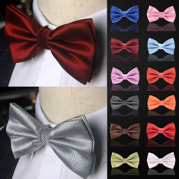 Bow tie fashion Wedding Party Men Women Solid Color Polyester Bowtie Male Dress Shirt gift