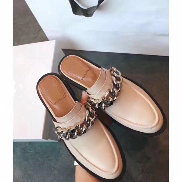2019 Summer New Shoes, Lady Sandal ,Women Slides Cow Leather Sheepskin Lambskin Stud High Quality Original Package(Dust bag+box) #3-10G