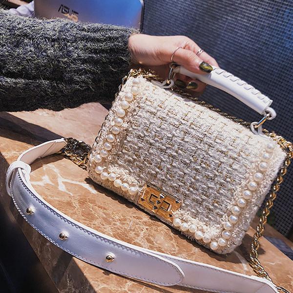 Brand Crossbody Bags For Women 2019 Winter Luxury Handbags Women Bags Designer Small Women Messenger Bags Wool bolsa feminina