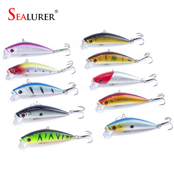 Lures Free shipping sales promotion 7cm 8.5g sinking lures 10pcs/lot hard plastic bait with quality Hooks