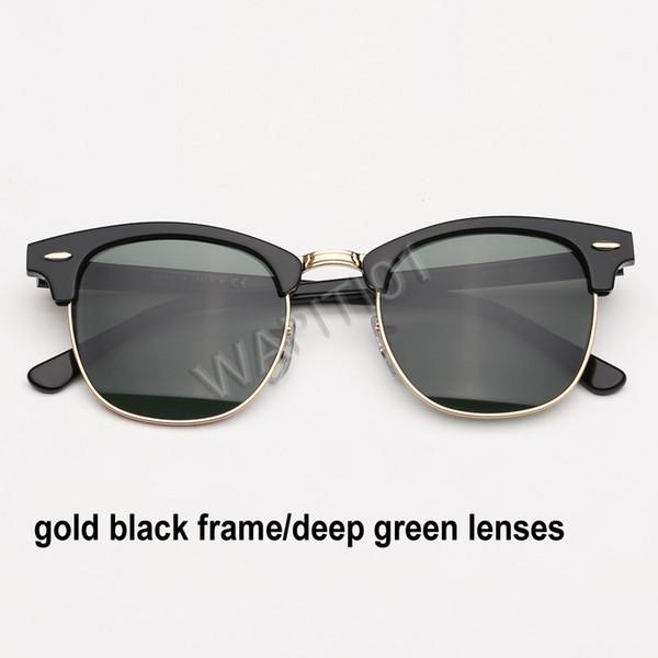 الذهب الأسود العميق الأخضر