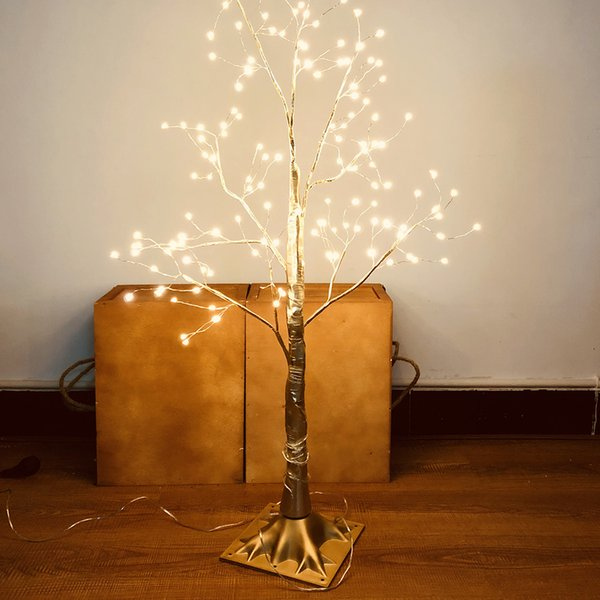 Small tree shape table lamp 220V 150led copper wire Plug-in tree shape welcome model light tree new year lanterns home decoration lamp