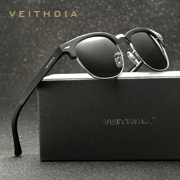 Al-mg liga polarizada retro vintage óculos de sol dos homens marca designer quadrado mulheres óculos de sol gafas oculos de sol 6690