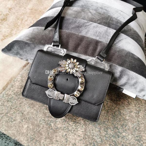 Borse di lusso Borsa del progettista Portafoglio Rivetto di capra vintage nuovo diamante decorativo fibbia in metallo singola spalla diagonale borsa a conchiglia