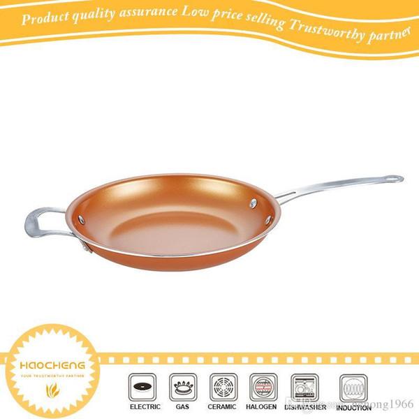 Rame Pans di alta qualità del bastone di sicuro sano Padella Uovo fritto cottura Stoviglie Strumento ceramica rivestimento non Kitchen 32sj F R