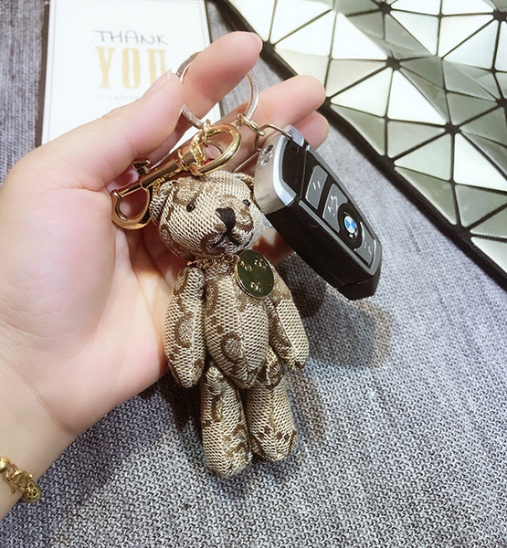 Catena 6Colors Orso chiave accessori nappa Portachiavi panno modello orso Keychain dell'automobile gioielli fascino del sacchetto