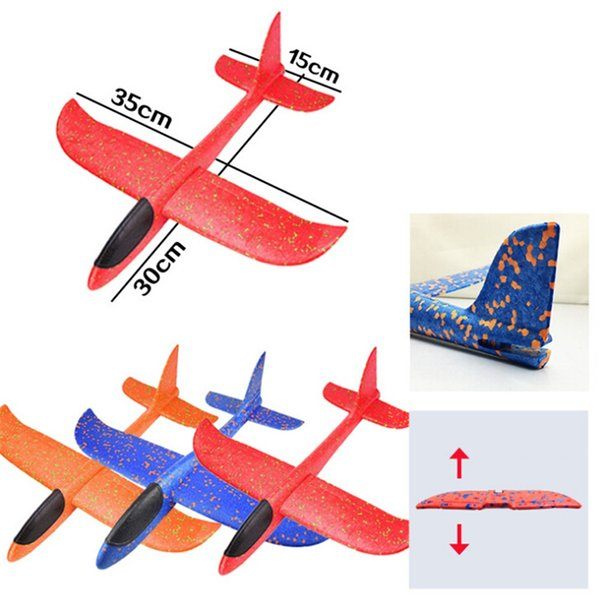 16 Styles EVA Aircraft Airplane Made Of Foam Plastic Hand Launch Throwing Glider Inertial Foam Airplane Plane Model Outdoor Toys