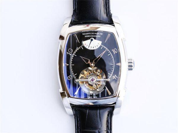 relógio de luxo relojes de lujo para hombre mechanical watches The top manual true flywheel movement is 45mm
