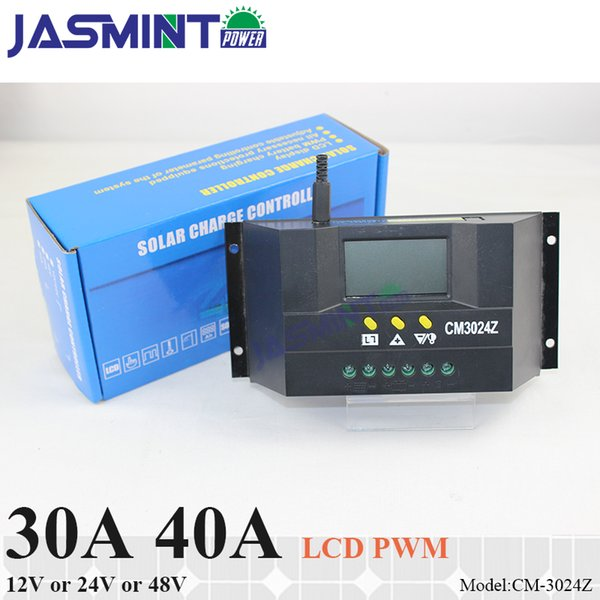 30A 40A 12V/24V auto work 48V PWM SOLAR charge controller with LCD display,charge regulator