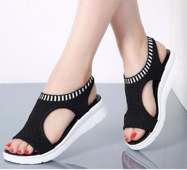 Para estrenar 2878b 9d029 Compre Sandalias 2019 Mujer Zapatos Mujer Verano Cuña Cómodas Damas Slip On  Sandalias Planas Mujeres Sandalias A $15.13 Del Jerry10   DHgate.Com