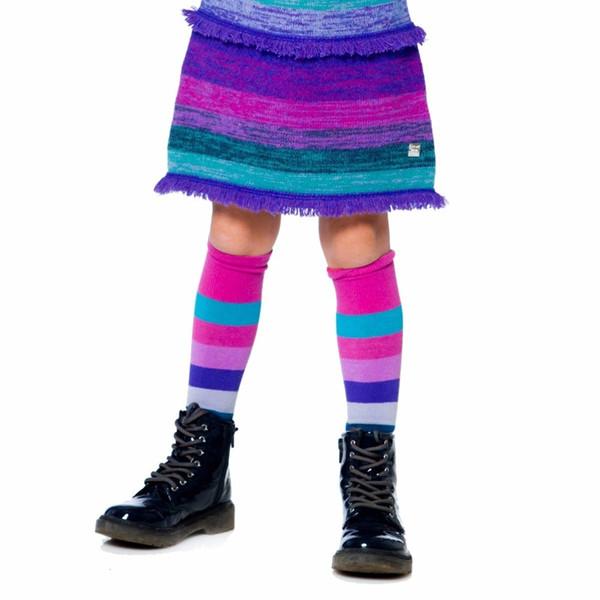 Baby Mädchen Kniehohe Socken 2019 Herbst Winter Kinder Kniestrümpfe für Mädchen Kleidung mit Birne Gestreiften Kindersocken 4 Farben