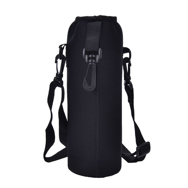 top popular 1000ML Water Bottle Cover Bag Pouch Strap Neoprene Outdoor Water Bottle Carrier Insulated Bag Pouch Holder Strap Black 2019