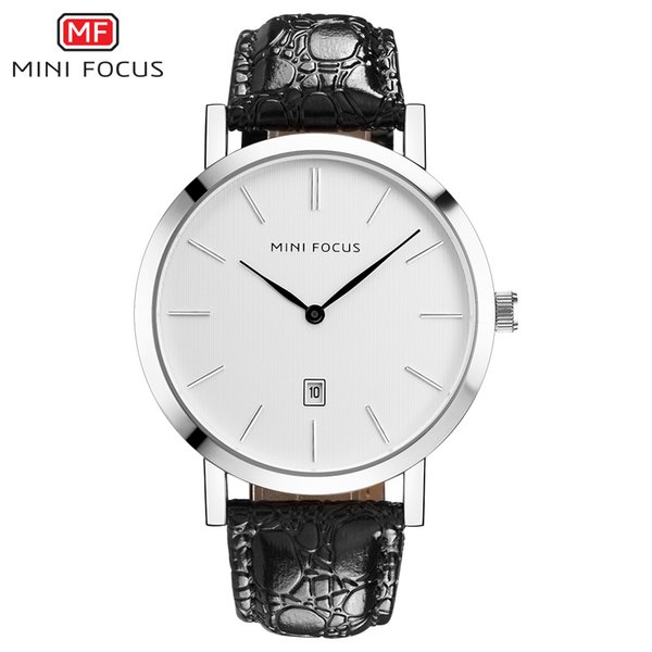 wholesale Men Simple Fashion Quartz Watches 2018 Man Leather Strap Business Watches Black Calendar Waterproof Clock For Male