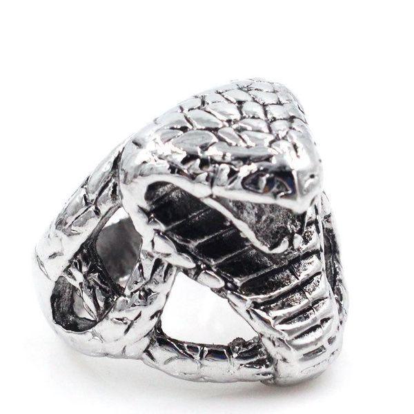 2019 Titanio acero Cobra cabeza encantos para hombre joyería anillos diseñador marca amor anillo hombres encanto moda diseñador joyería hombres anillos