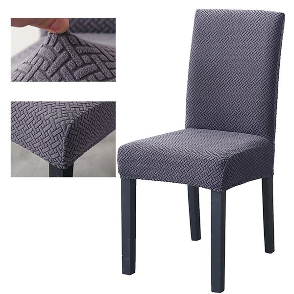 Super Soft Polar Fleece Fabric Chair Cover Elastic Chair Covers Spandex For Dining Room/wedding/Kitchen/Hotel Party Banquet