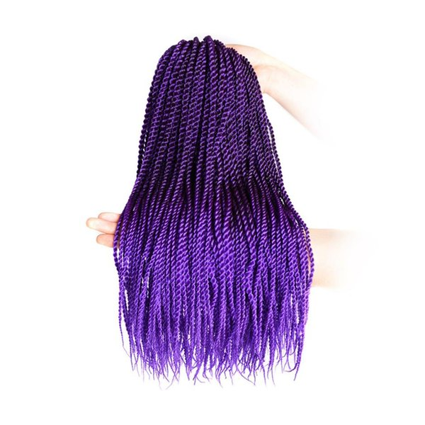 3 Packs18inch 30stands/pack Senegalese Twist Crochet Braids 3 Colors Avaliable for Black Women High Temperature Fiber Synthetic Braids