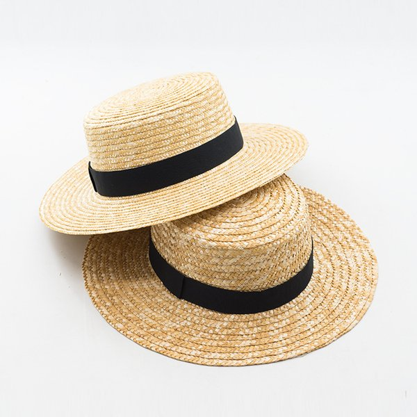 a9213ce3 venta al por mayor Sombreros para navegantes para mujeres Sombrero de paja  de sol de verano