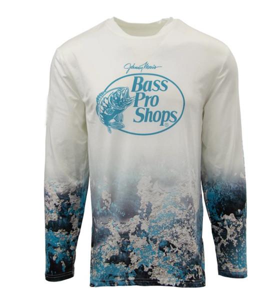 2019 ba*s pro sh*ps men fishing t shirt long sleeve shirt upf50 quick dry fishing clothes sports shirts usa size s-3xl thumbnail