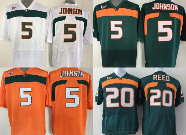cheap for discount 0c323 76e1c 2019 Factory Outlet NCAA Miami Hurricanes 5 JOHNSON 20 Ed Reed 26 Sean  Taylor College Football Jersey Size S 3XL, Sport Jerseys From Probowl,  $19.68 | ...