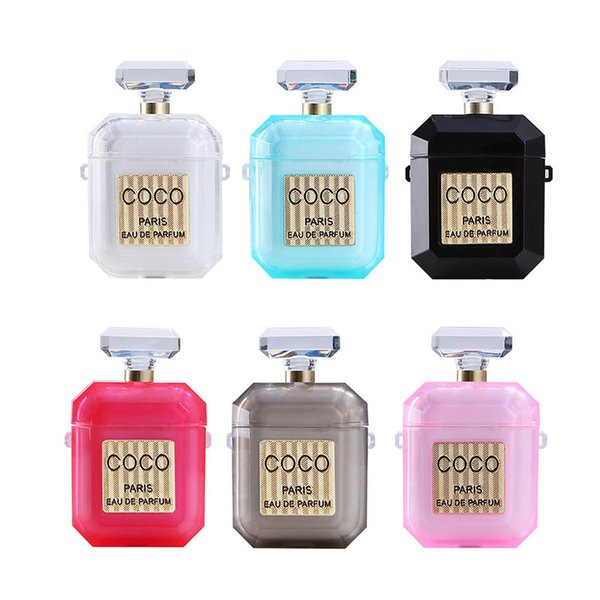 Luxury Perfume Bottle Protective Cover For Airpods TPU Silicone Soft Case For Air Pods Free Shipping