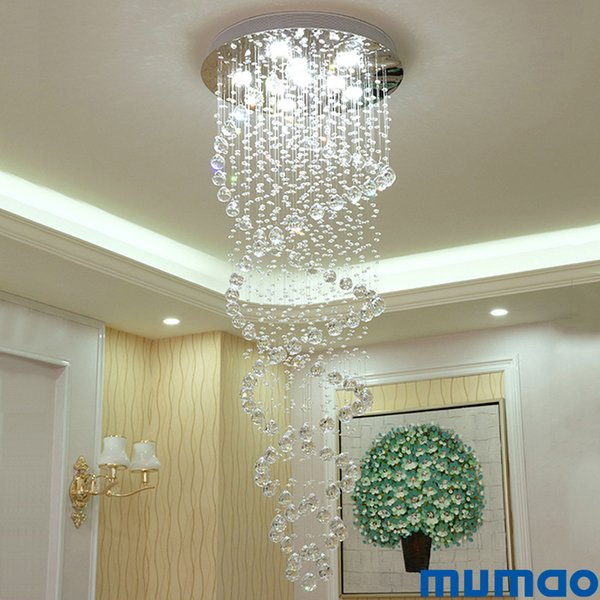 Doble De Hotel Lámpara Techo LED De Cristal Iluminación Moderno Foyer Colgando Para Escalera Candelabros Espiral Compre Colgante Suspensión Araña tshCodQrxB