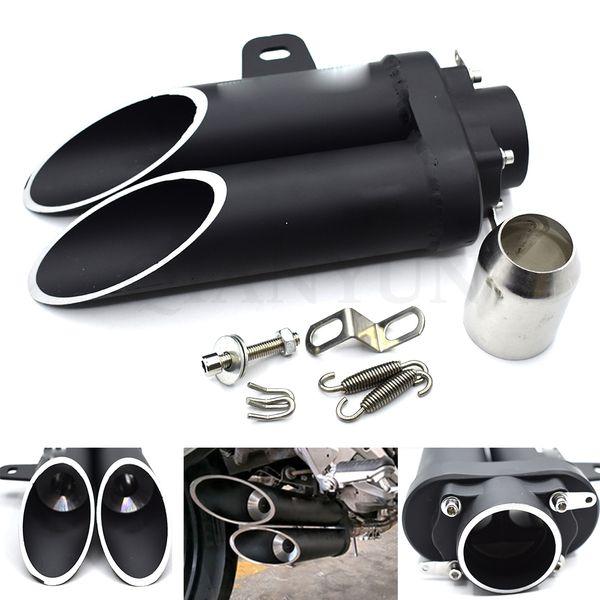 Universal 38-51mm hochwertiges Motorrad Doppelrohr-Schalldämpfer für GROM CBR250R CBR300R CBR500R F / X F2, F3, F4, F5 F4i CB1100