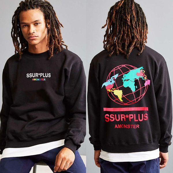 Толстовка с капюшоном марки US Tide SS UR, цветная карта, свитер с круглым вырезом, модная мужская толстовка с принтом тренеров, пары Молодежная хип-хоп толстовка с капюшоном, пуловер