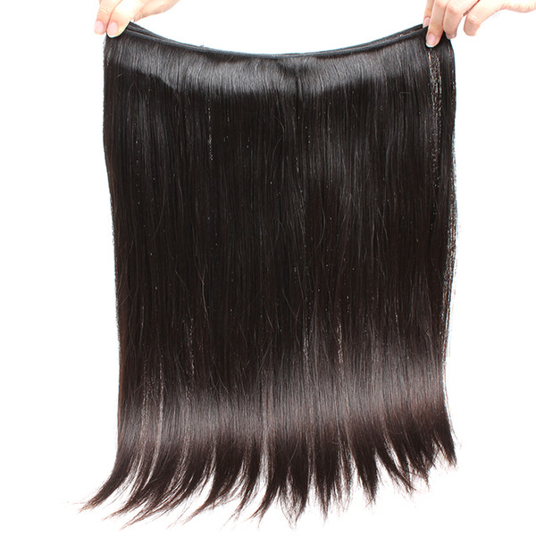 top popular Bella Hair®Indian Hair Bundles Unprocessed Virgin Natural Color Human Hair Weaves Double Weft Silky Straight 2 Bundles Free Shipping 2021
