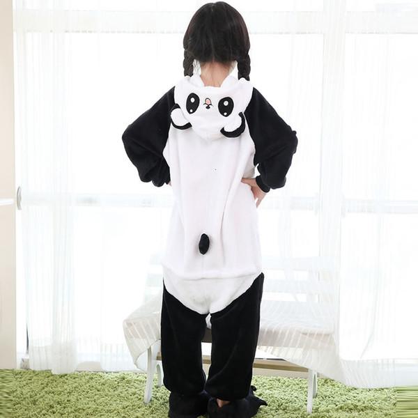 2019 pyjama roupas infantis Menina pyjama panda enfants enfants flanelle vêtements de nuit paymas frais de bande dessinée cosplay Onesie CJ191205