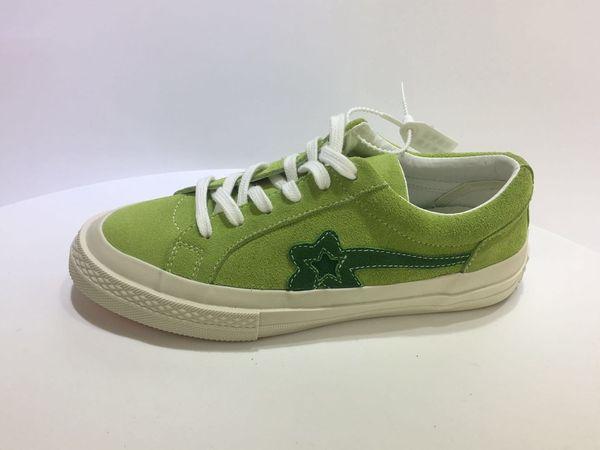 One Star X Golf Зеленый Холст Тапки Высокое Качество Повседневная Обувь Заказ Mix Низкий Верх Одна Звезда X Golf Повседневная Обувь С Коробкой