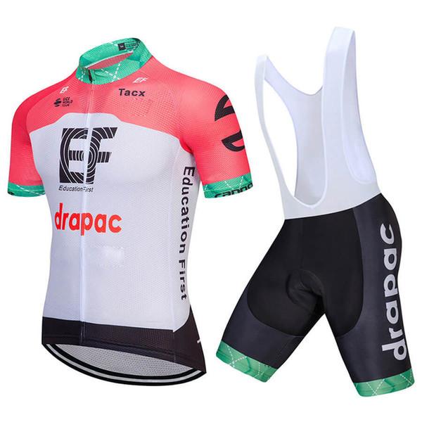 EF Education First team Mens Short sleeve Cycling Jersey Mountain bike Racing Cycle Tops summer Breathable Biking Shirt shorts sets 0908