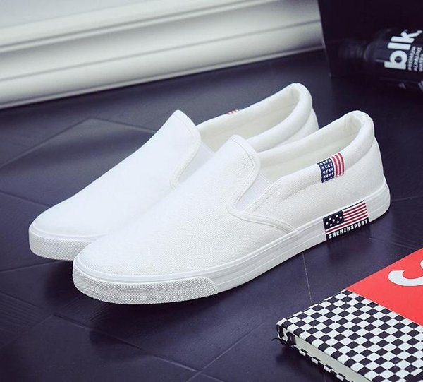 British Style Canvas Shoes Men Summer 2019 Breathable Men's Footwear Casual Shoes Man Loafers