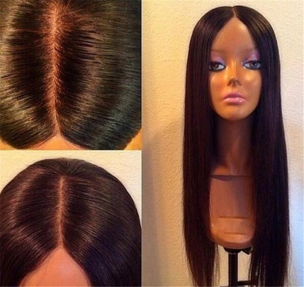 Gluless Lace Front Human Hair Wigs For Women 150 Density Brazilian Silky Straight Lace Wig with Baby Hair Remy Black