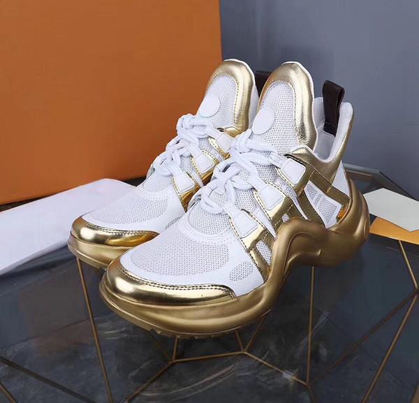 2019 Высокое качество Новая Мода Paris Show Папа Обувь Дизайнер Мужчины и Женщины Тренер Уличная Прогулка Обувь