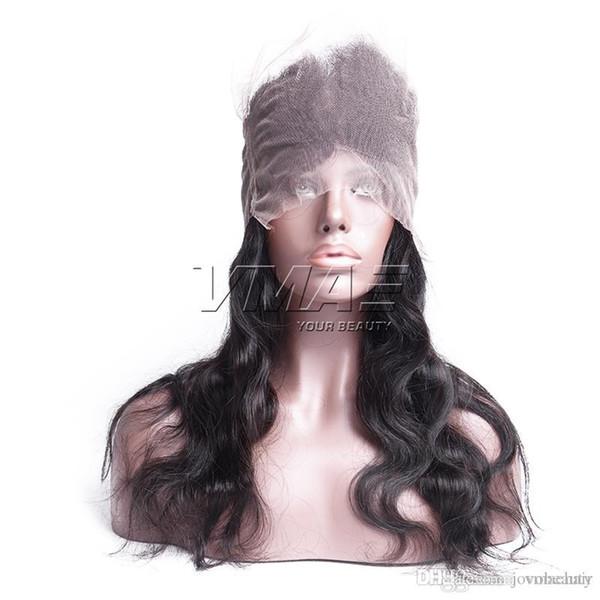 Chiusura dei capelli umani vergine della chiusura frontale mongola 360 con chiusura di pizzo umana dei capelli del bambino CAPELLI di VMAE superiori