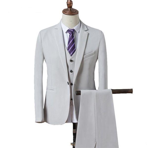 3Piece Men Suits Wedding Suits Custom Made Handsome Slim Fit Bridegroom Groomsmen Best Men Blazer Formal Tuxedos Prom Party